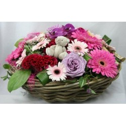 Bouquet rond roses