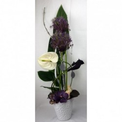 Bouquet bleu-vert-blanc
