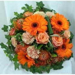 Bouquet rotondo arancione